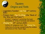 taoism origins and texts