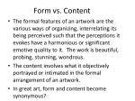 form vs content