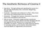 the aesthetic richness of cinema ii