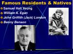 famous residents natives