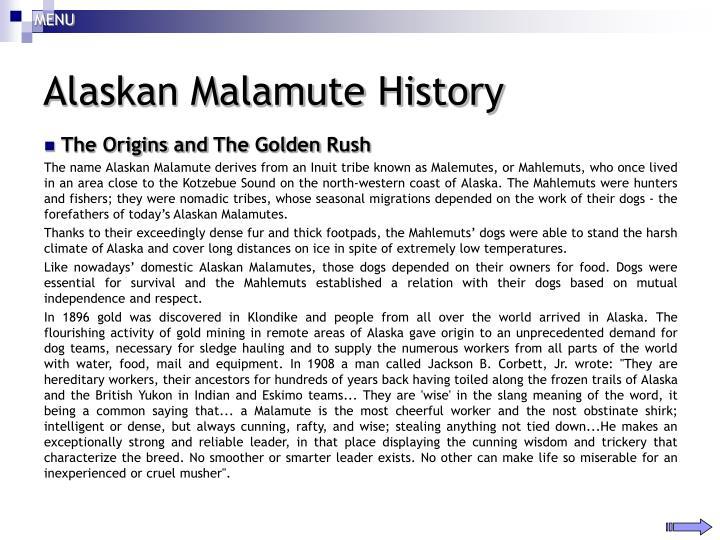 Alaskan malamute history