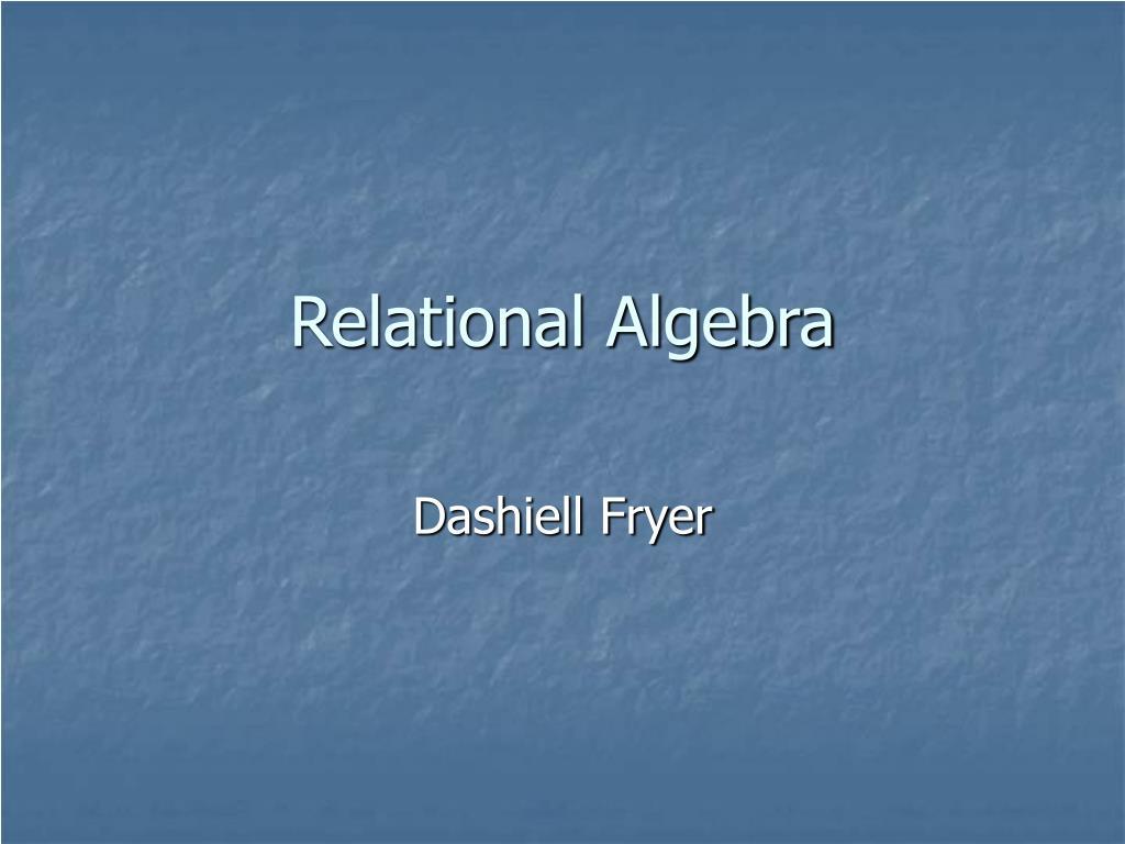relational algebra l.
