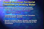 federal provincial territorial committee on drinking water