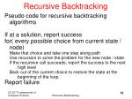 recursive backtracking13