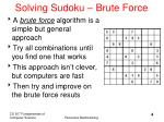 solving sudoku brute force