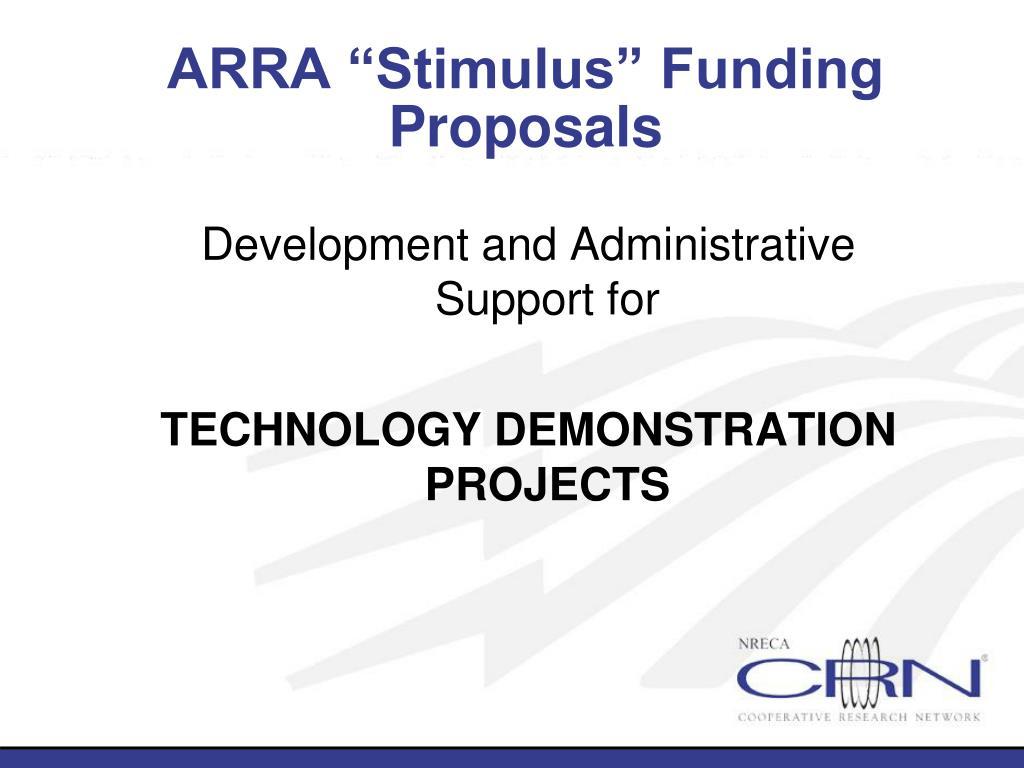 """ARRA """"Stimulus"""" Funding"""