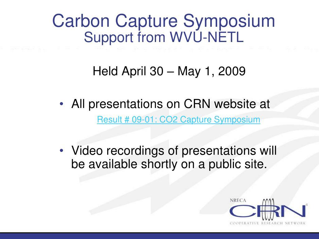 Carbon Capture Symposium