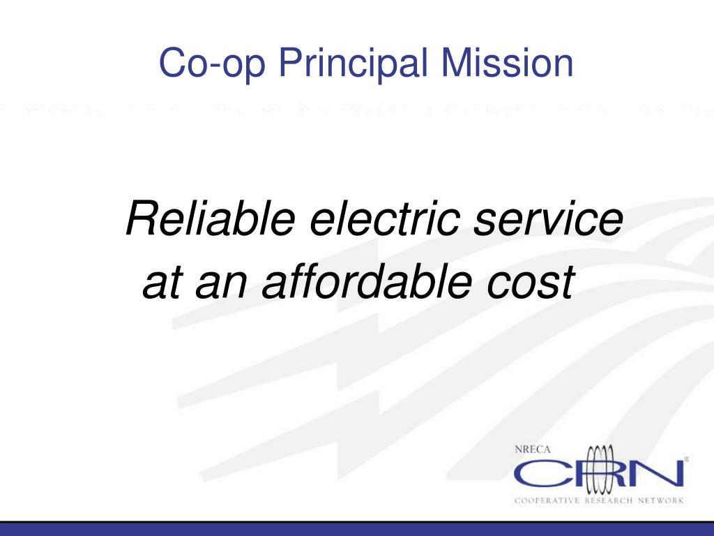 Co-op Principal Mission
