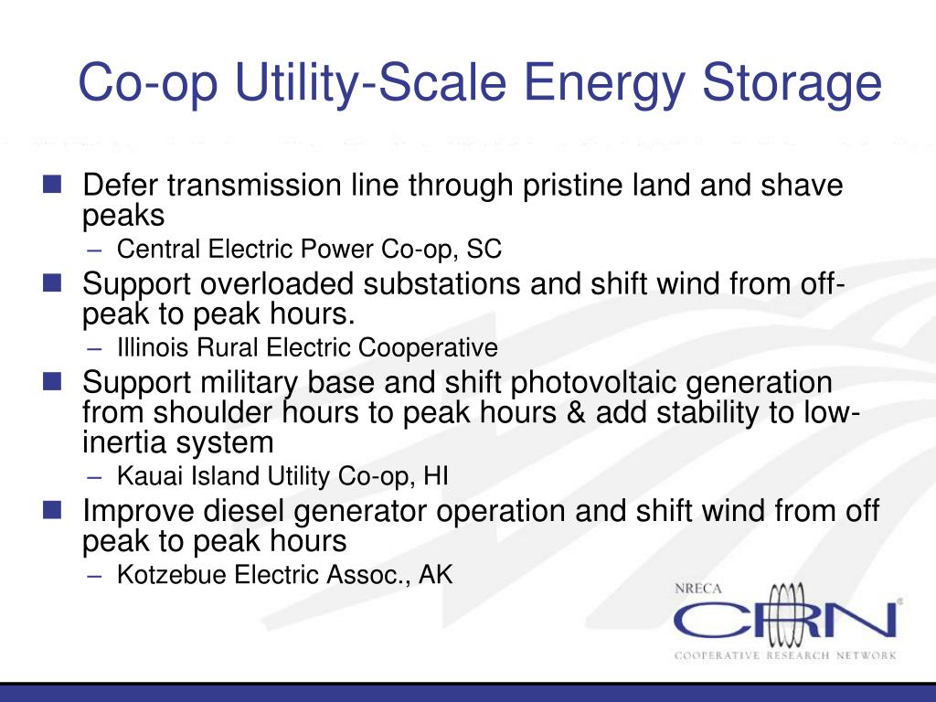 Co-op Utility-Scale Energy Storage