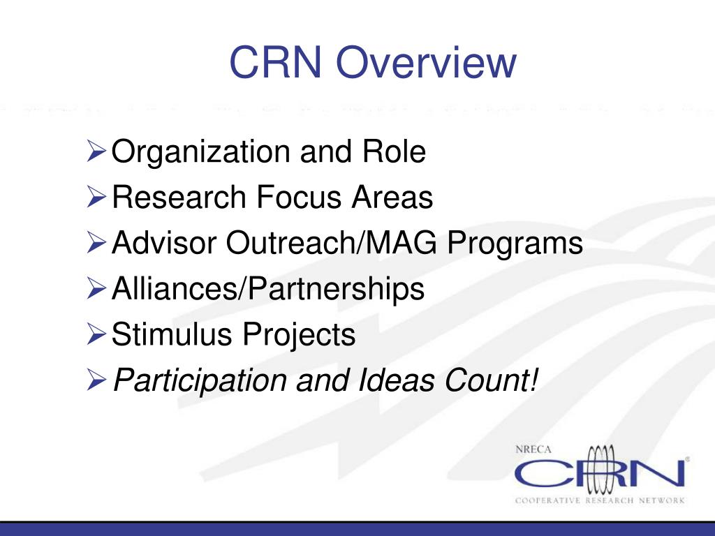CRN Overview