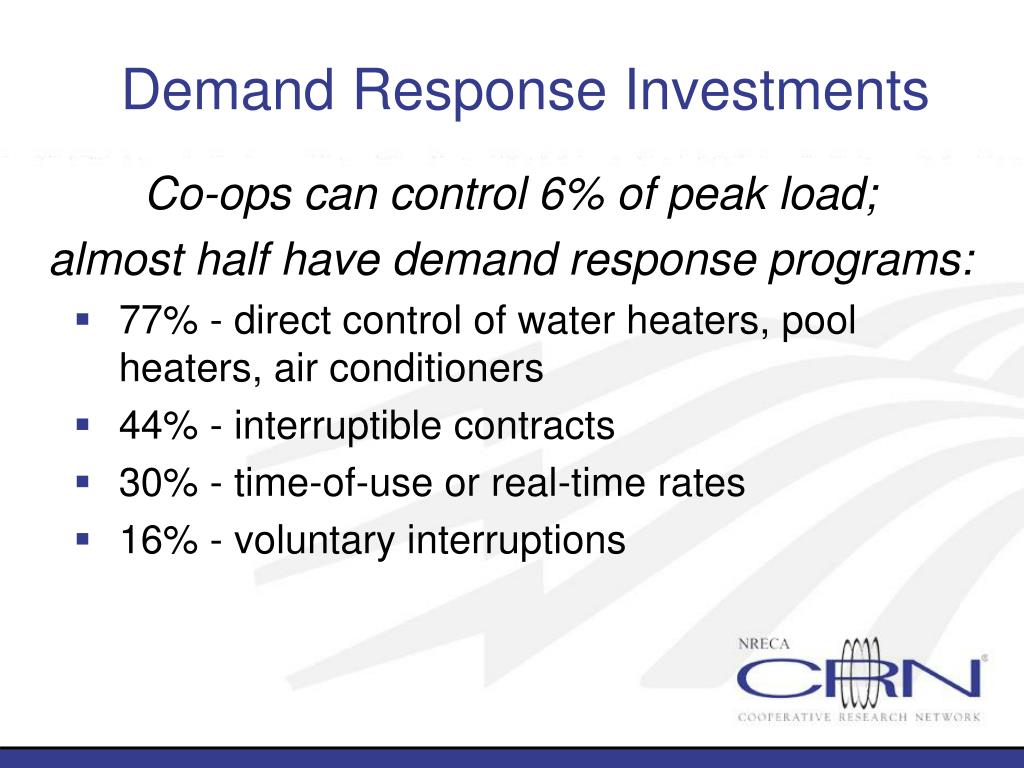 Demand Response Investments