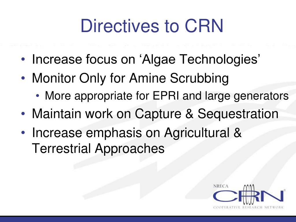 Directives to CRN