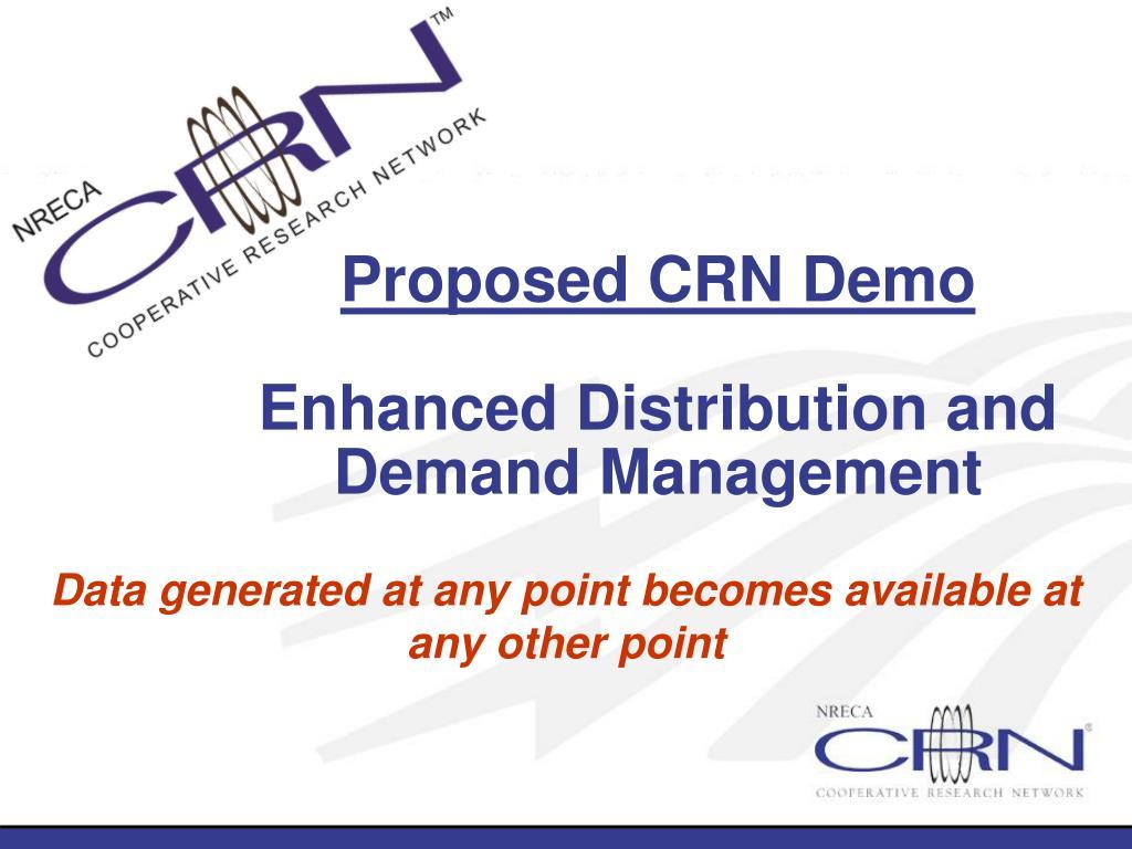 Proposed CRN Demo