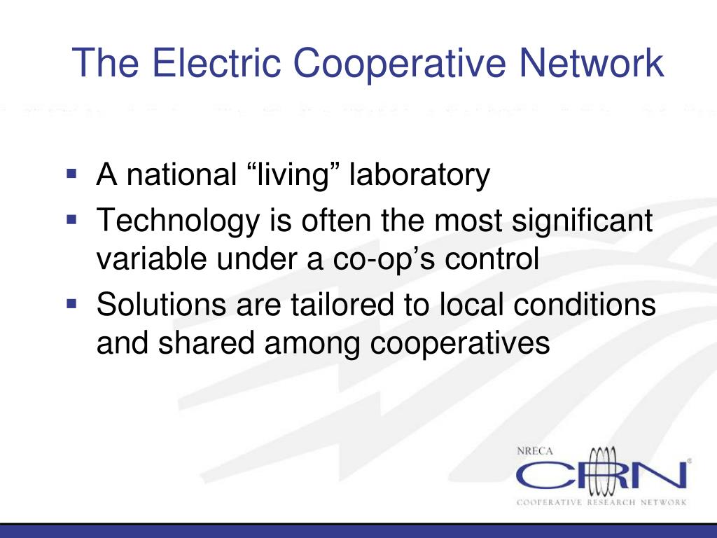 The Electric Cooperative Network