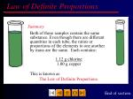 law of definite proportions11