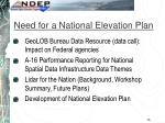 need for a national elevation plan