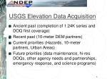 usgs elevation data acquisition