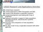 usgs research and applications activities