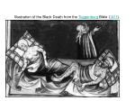 illustration of the black death from the toggenburg bible 1411