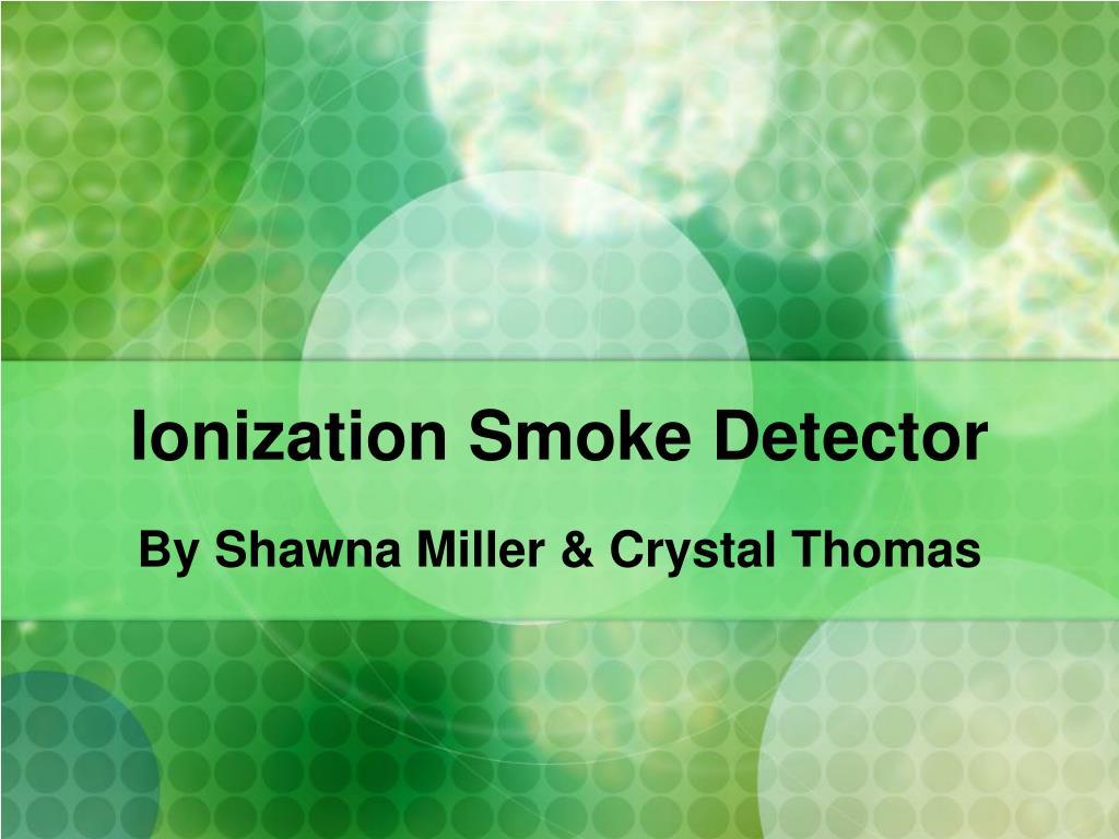 ionization smoke detector l.