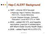 hep c alert background