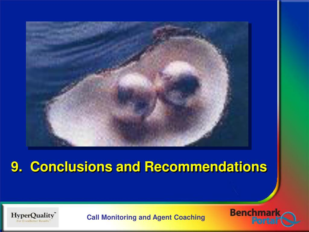 9.  Conclusions and Recommendations
