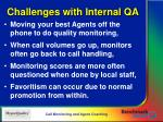 challenges with internal qa