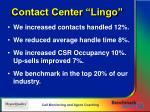 contact center lingo