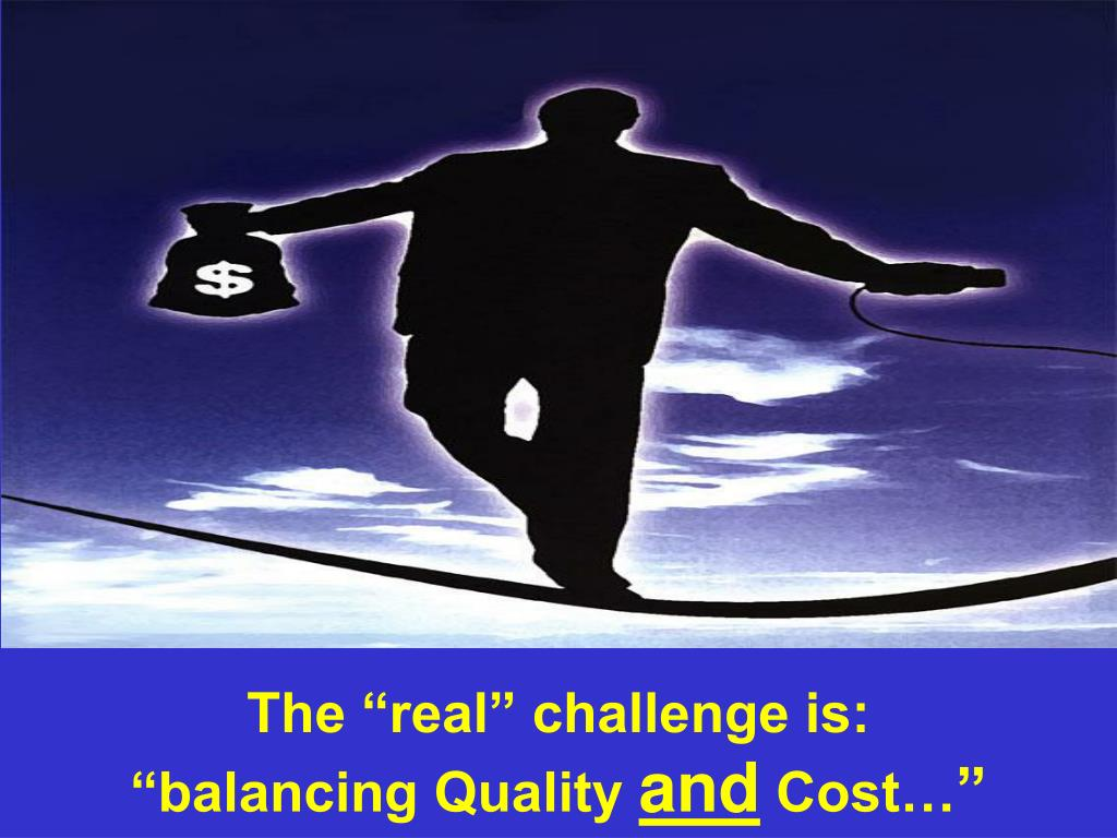 """The """"real"""" challenge is:"""