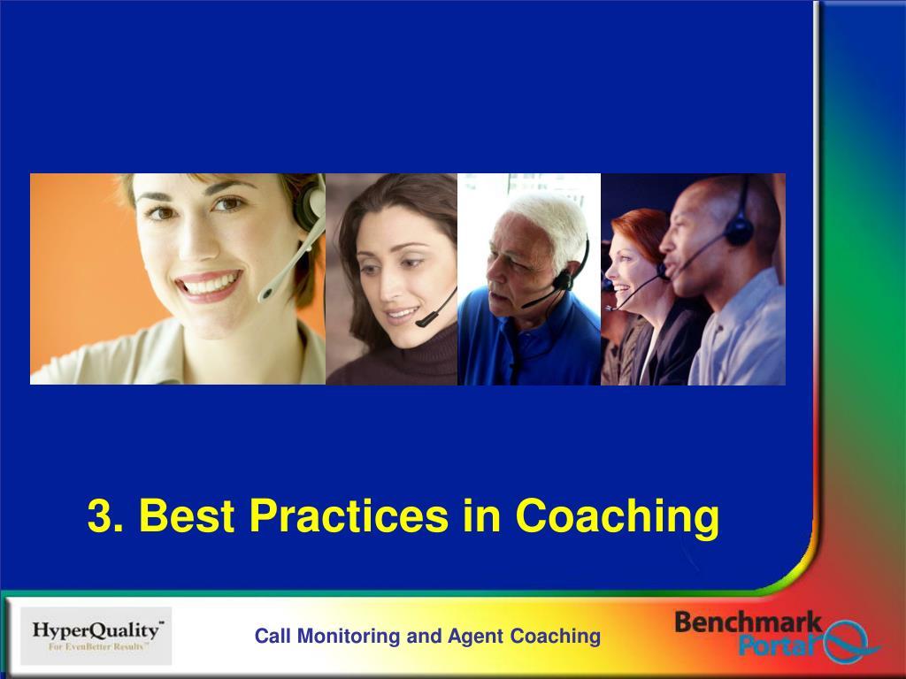 3. Best Practices in Coaching
