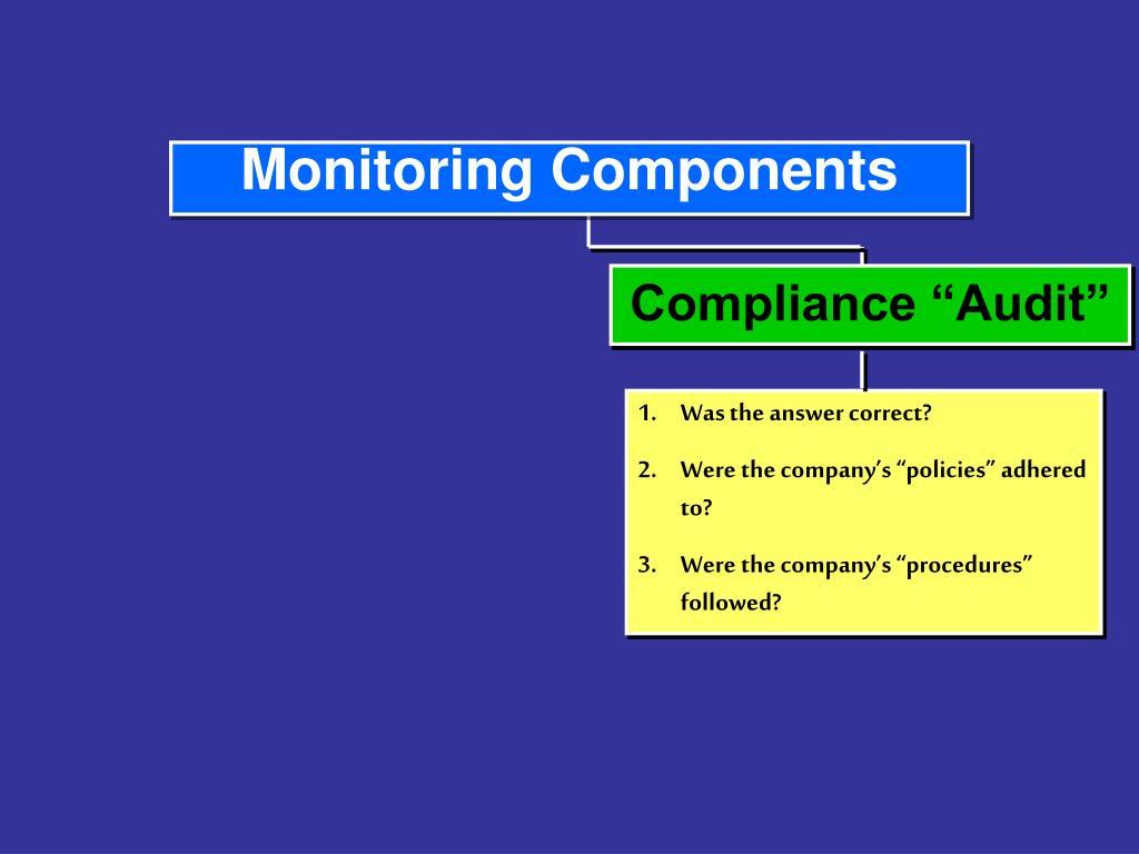 """Compliance """"Audit"""""""