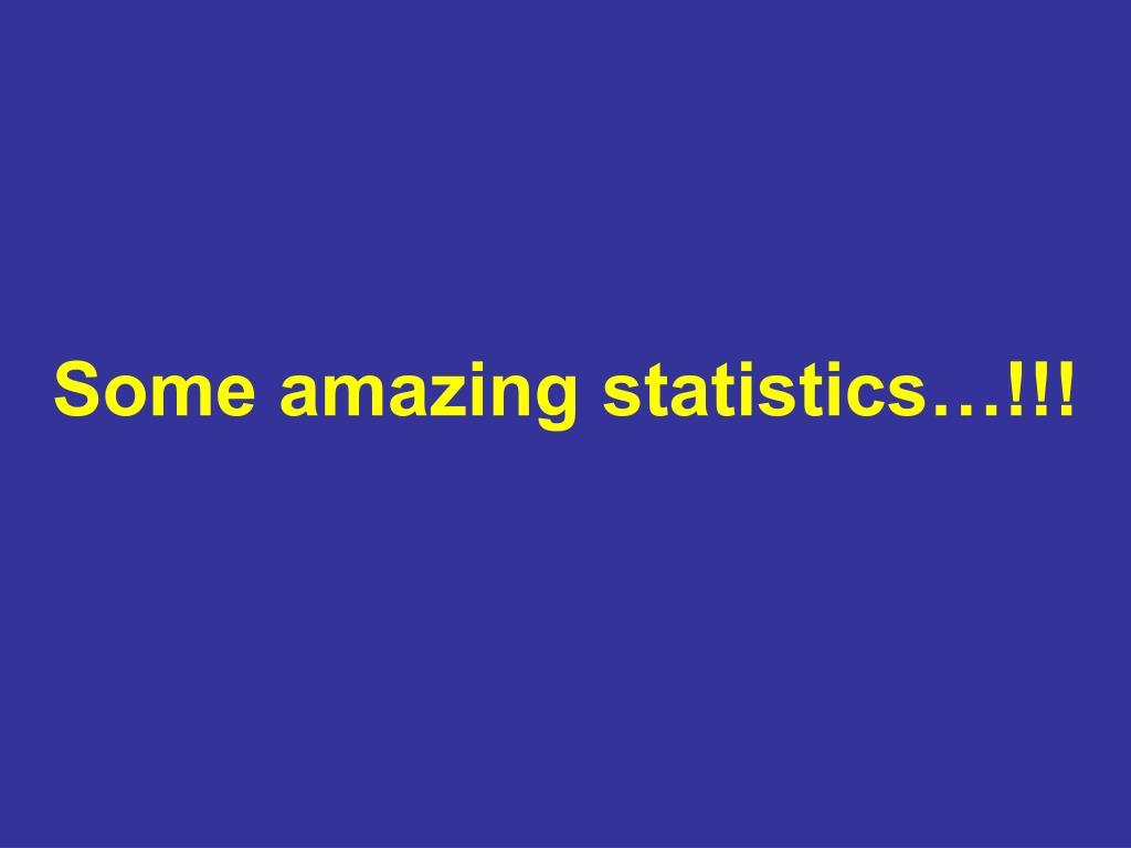 Some amazing statistics…!!!