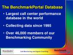 the benchmarkportal database