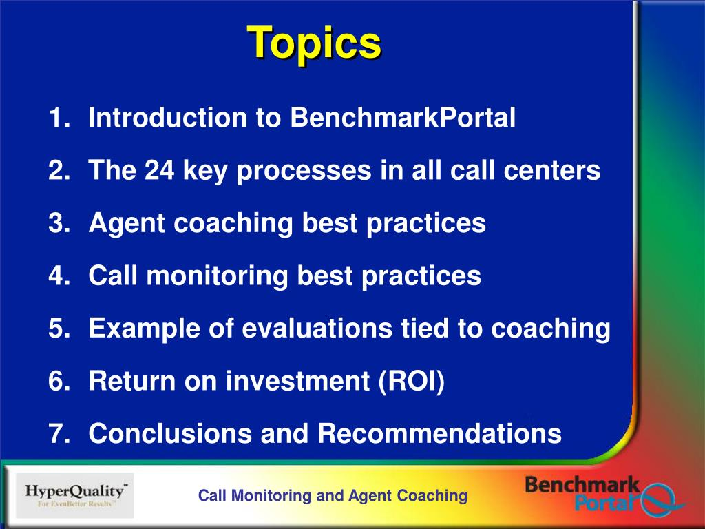 Introduction to BenchmarkPortal