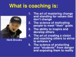 what is coaching is