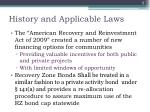 history and applicable laws