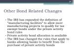 other bond related changes