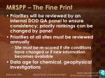 mrspp the fine print