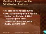 munitions response site prioritization protocol3
