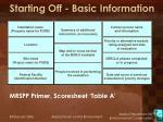 starting off basic information