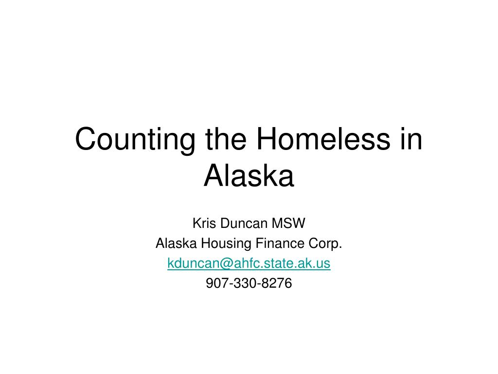 counting the homeless in alaska l.