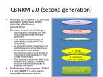 cbnrm 2 0 second generation