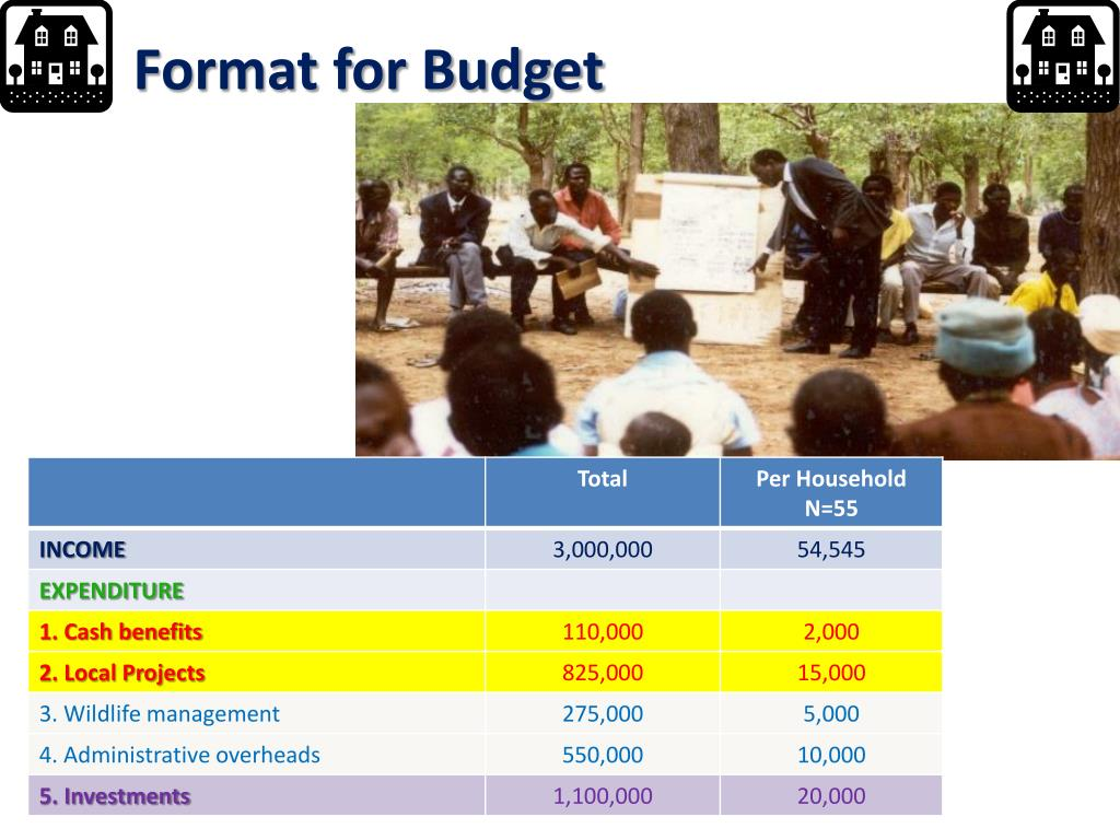 Format for Budget