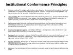 institutional conformance principles