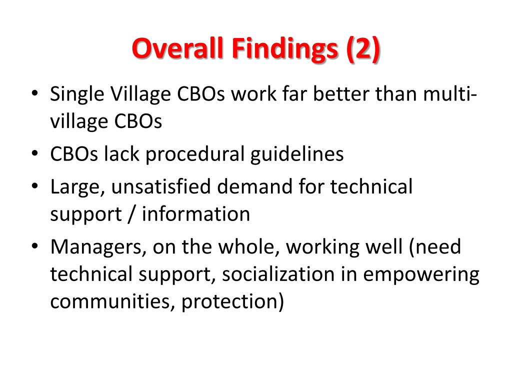 Overall Findings (2)