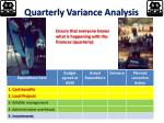 quarterly variance analysis