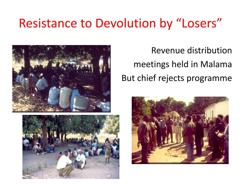 """Resistance to Devolution by """"Losers"""""""