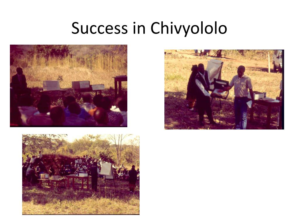 Success in Chivyololo