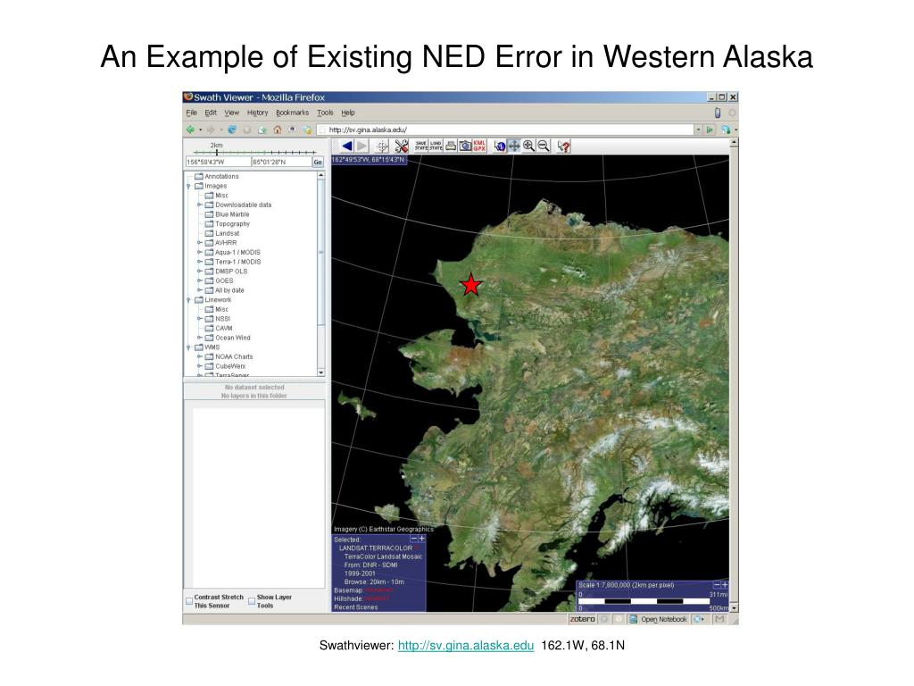 An Example of Existing NED Error in Western Alaska
