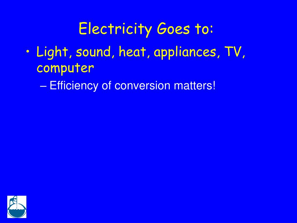 Electricity Goes to: